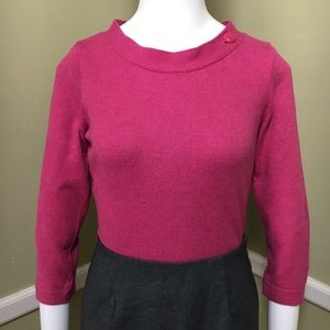 Banana Republic 3/4 Sleeve Button Pink Sweater